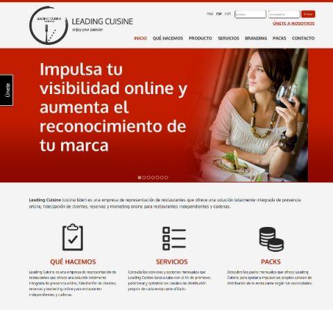 La web de Leading Cuisine aposta pel Multidioma.