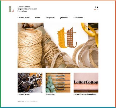 Letter Cotton la flexibilitat del disseny adaptat a les nostres plantilles.